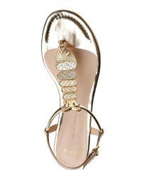 Aerin   Metallic Gold Leah Thong Sandals   Lyst