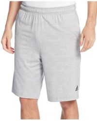 Adidas | Gray Men's Team Issue Heathered Performance Shorts for Men | Lyst