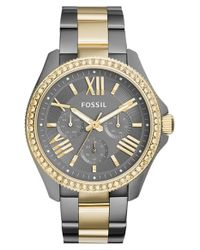 Fossil - Metallic 'cecile' Crystal Bezel Multifunction Bracelet Watch - Lyst