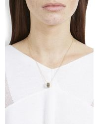 Marc By Marc Jacobs | Metallic Delicate Sweetie Grey Enamel Necklace | Lyst
