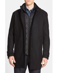 Marc New York | Black By Andrew Marc 'morningside' Wool Blend Car Coat for Men | Lyst
