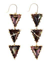 Lana Jewelry | Purple Mystiq Tri-spike Earrings | Lyst