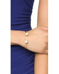 kate spade new york - Metallic Dainty Sparklers Cuff Bracelet - Cream - Lyst