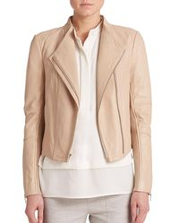 VINCE | Natural Leather Moto Jacket | Lyst