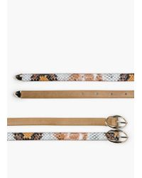Mango - Brown Skinny Belt Pack - Lyst