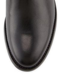 Aquatalia - Black Oralie Leather Stretch Knee Boot - Lyst