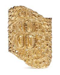 Givenchy - Metallic Crocodile Effect Cuff - Lyst