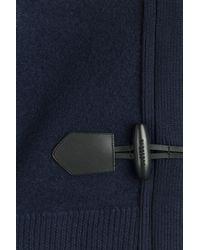 Burberry Brit - Wool Duffle Jacket - Blue - Lyst