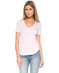 Splendid - Multicolor 1x1 V Neck T-shirt - Lyst