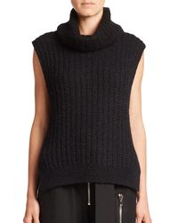 3.1 Phillip Lim | Black Sleeveless Turtleneck Sweater | Lyst