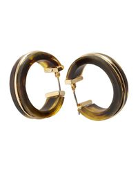 Lauren by Ralph Lauren - Brown Tortoise Hoop Earrings - Lyst