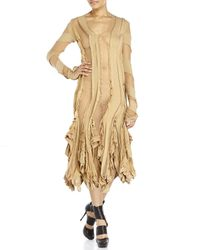 Junya Watanabe - Natural Sheer Panel Ruffle Dress - Lyst