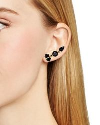 Samantha Wills - Black Horses And Hummingbirds Ear Climber & Stud Earring - Lyst
