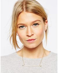 ASOS   Metallic Limited Edition Long Bar Necklace   Lyst
