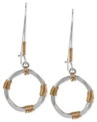 Robert Lee Morris | Metallic Two-tone Wire-wrapped Sculptural Circle Long Drop Earrings | Lyst