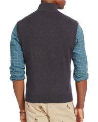 Polo Ralph Lauren | Gray Half-zip Supima Cotton Vest for Men | Lyst