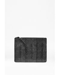 French Connection | Black Patsy Watersnake Zip Pouch | Lyst