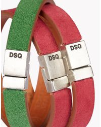 DSquared² | Green Rainbow Armlet for Men | Lyst