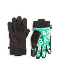 The North Face - Black 'sierra Park' E-tip Gloves for Men - Lyst