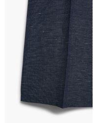 Mango - Blue Flecked Crop Trousers - Lyst