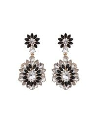 Mikey | Black Drop Fillagary Flower Earring | Lyst