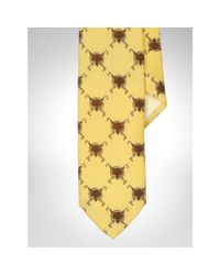 Polo Ralph Lauren - Yellow Fox Wool Challis Tie for Men - Lyst