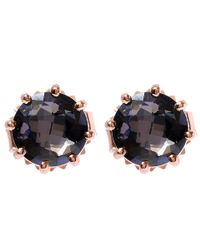 Suzanne Kalan | Pink Rose Gold Black Night Quartz Stud Earrings | Lyst