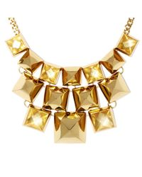 Vince Camuto - Metallic Pyramid Stud Necklace - Lyst