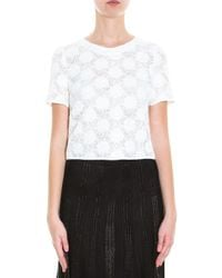 Galvan London - White Bubble Lace Top - Lyst