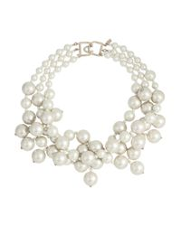 Kenneth Jay Lane - White Gold-Plated Faux Pearl Necklace - Lyst