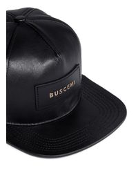 Buscemi | Black Logo Patch Cap for Men | Lyst