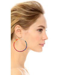 Gemma Redux - Multicolor Rainbow Hoop Earrings - Rainbow - Lyst