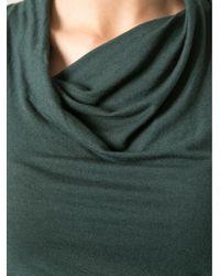 Helmut - Green Cowl Neck Top - Lyst