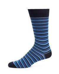 Paul Smith   Blue Odd Ombre Stripe Socks for Men   Lyst