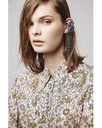 TOPSHOP - Blue Bateman Earrings By Unique - Lyst