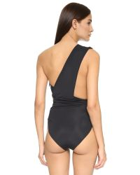 Preen By Thornton Bregazzi | Black One Shoulder Swimsuit | Lyst