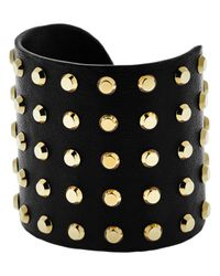 Michael Kors | Black Astor Leather Statement Cuff | Lyst