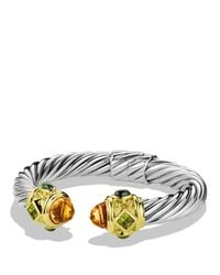 David Yurman | Metallic Renaissance Bracelet With Citrine, Peridot & Gold | Lyst