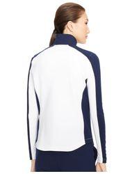 Ralph Lauren - White Colorblocked Full-Zip Jacket - Lyst
