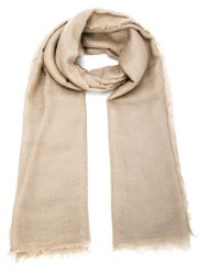 Rick Owens - Natural Fringed Scarf - Lyst