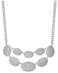 Style & Co. | Metallic Glitter Oval Bib Necklace | Lyst