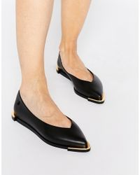 Melissa | Spice Pointed Black Flat Shoes | Lyst