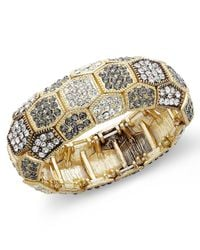 INC International Concepts | Metallic Gold-tone Glass Stone Bracelet | Lyst
