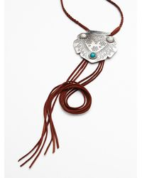 Free People - Brown Womens Montana Leather Bolo - Lyst