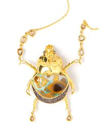 Daniela Villegas - Metallic Diamond Beetle Pendant Necklace - Lyst