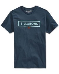 Billabong | Blue Branded T-shirt for Men | Lyst