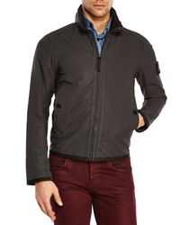 Stone Island - Gray Charcoal Zip Front Jacket for Men - Lyst