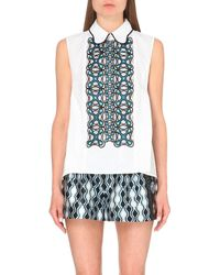 Peter Pilotto | White Atom Embroidered Cotton Shirt | Lyst