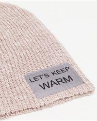 Zara | Pink Slogan Hat | Lyst