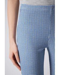 TOPSHOP - Blue Mini Gingham Leggings - Lyst